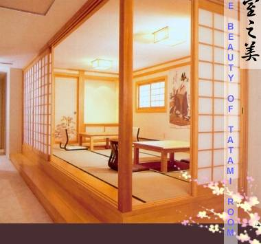Lilin japanese interior shoji tatami room factory for Japanese tatami room design